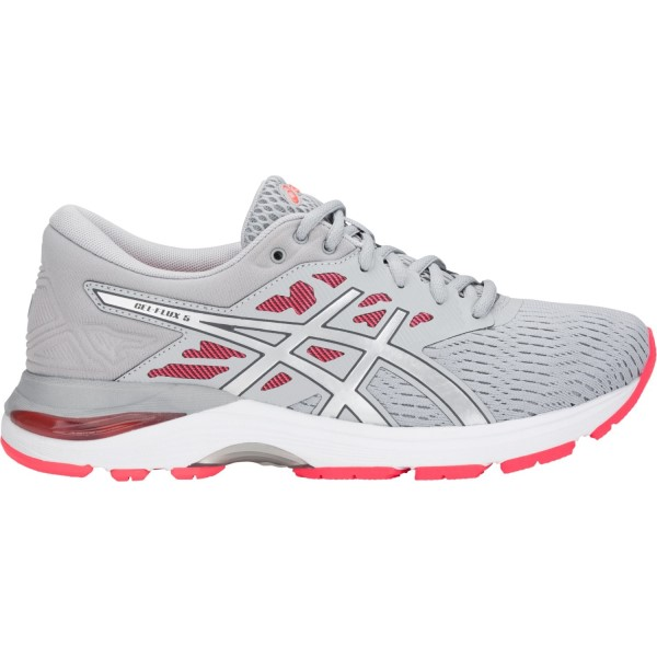 Asics Gel Flux 5 - Womens Running Shoes - Mid Grey/Silver