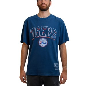 Mitchell & Ness Philadelphia 76ers Vintage Keyline Logo NBA Mens Basketball T-Shirt