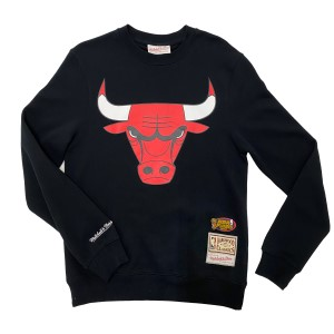 Mitchell & Ness Chicago Bulls Team Logo Crew Mens Basketball Sweatshirt