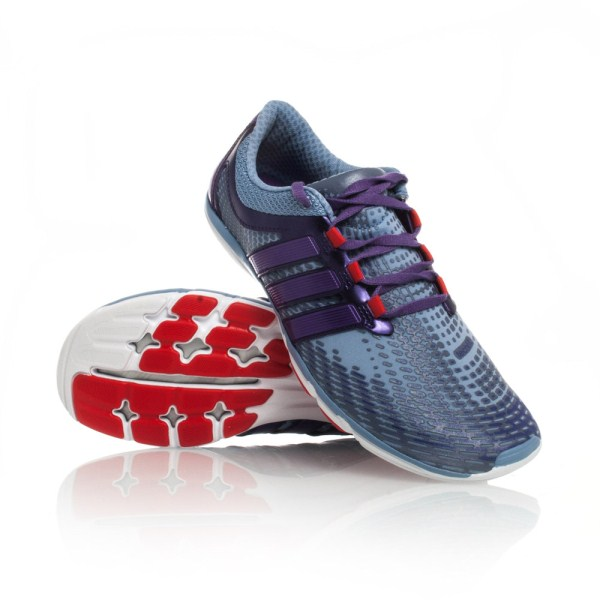 fb012e7b7a8 Adidas Adipure Gazelle 2 - Womens Running Shoes - Light Blue Purple ...