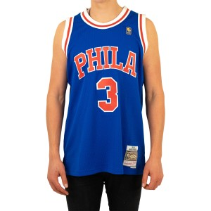 Mitchell & Ness Philadelphia 76ers Allen Iverson Alternate 1996-97 Swingman Mens Basketball Jersey