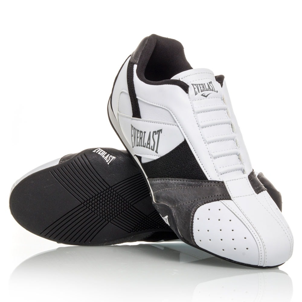 everlast cage fighter mens casual shoes white black