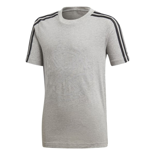 Adidas Graphic Kids Boys Casual T-Shirt - Medium Grey Heather