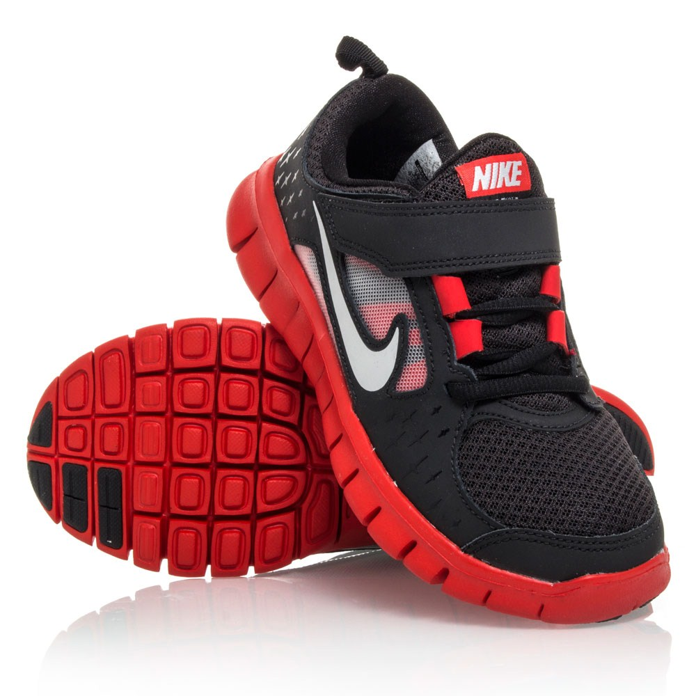 c60c42b28781 Nike Free Run 3 PSV - Pre-School Boys Running Shoes - Black Red ...