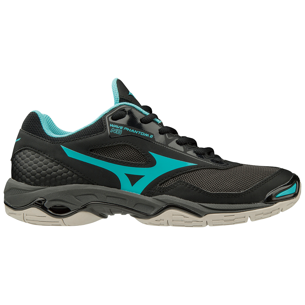31fa8cf929 Mizuno Wave Phantom 2 - Womens Netball Shoes - Black Blue Curacao + Free  Netball