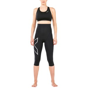 2XU Postnatal Active 3/4 Tights - Black/Silver
