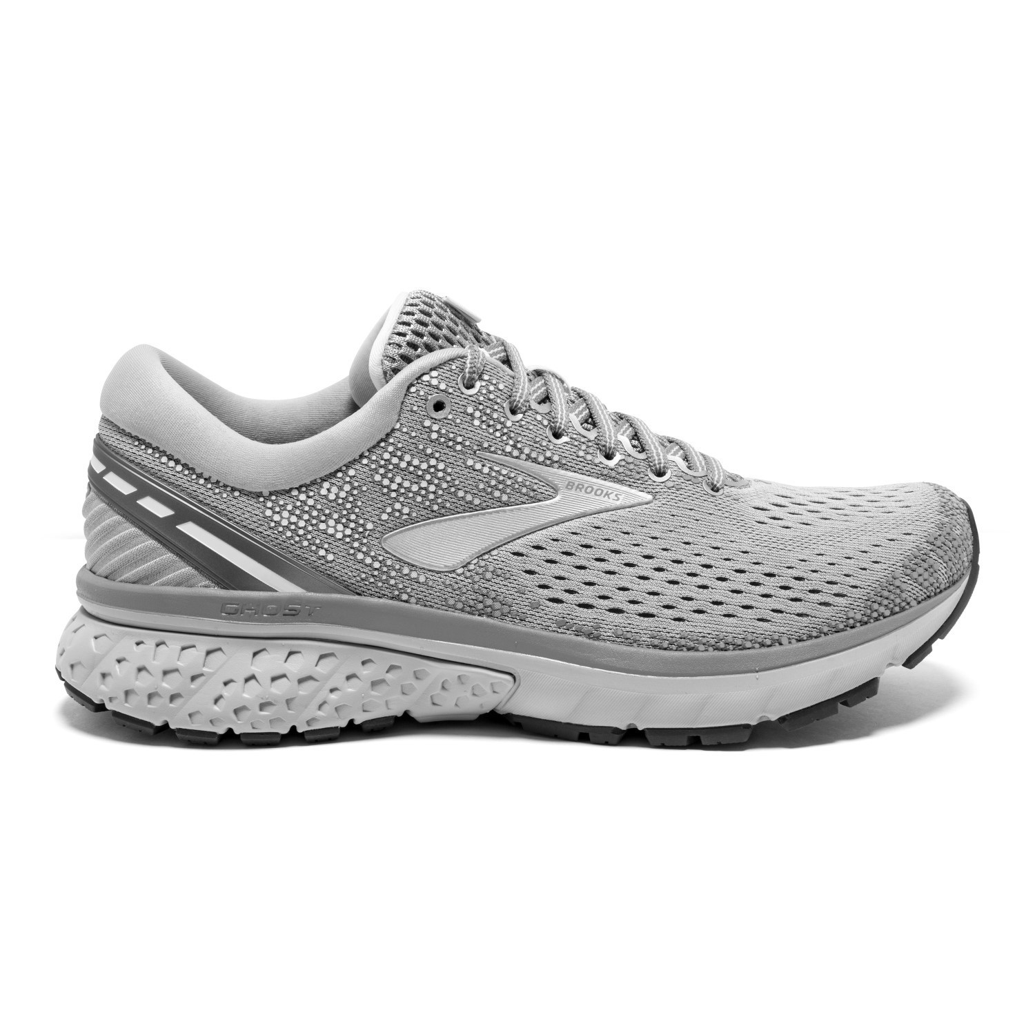 7f89e3fbc71b7 Brooks Ghost 11 - Womens Running Shoes - Silver Alloy Grey