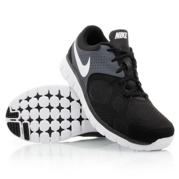 7608ad3d948e Nike Flex 2012 RN (010) - Mens Running Shoes - Black White