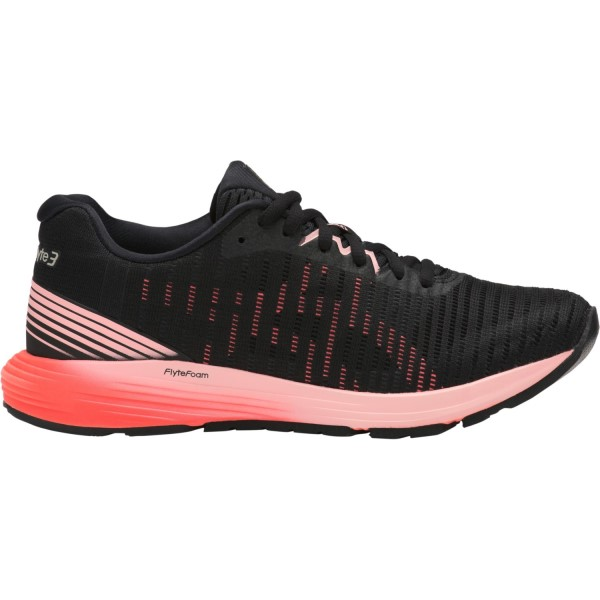 Asics DynaFlyte 3 - Womens Running Shoes - Black/Flash Coral