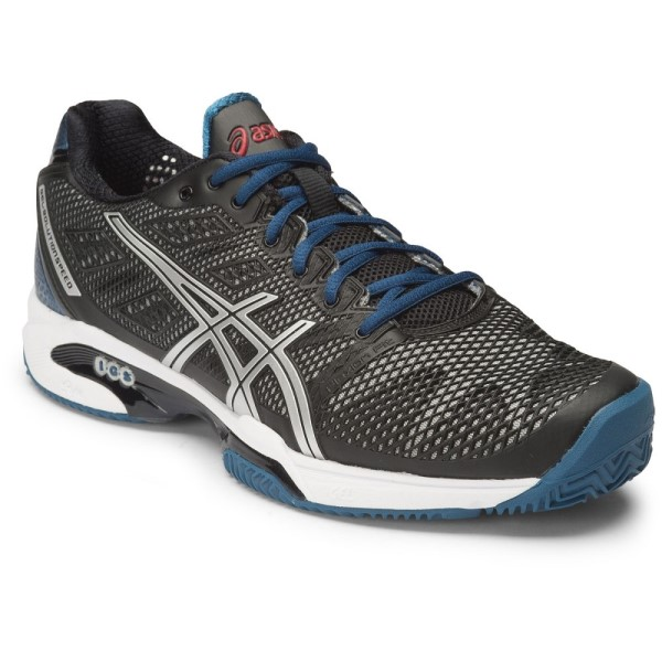 finest selection 65a97 b0728 Asics Gel Solution Speed 2 Clay - Mens Tennis Shoes - Onyx Silver Mosaic