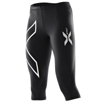 2XU Womens 3/4 Compression Tights - Black/Silver