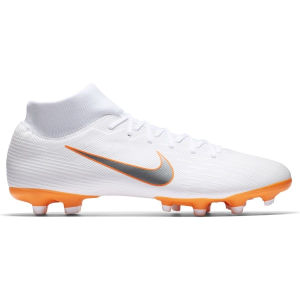 Nike Mercurial Superfly VI Academy MG - Mens Football Boots - White/Metallic Cool Grey/Total Orange