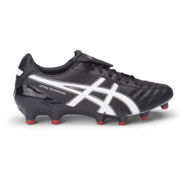 Asics Lethal Testimonial 4 IT - Mens Football Boots - Black/White/Silver