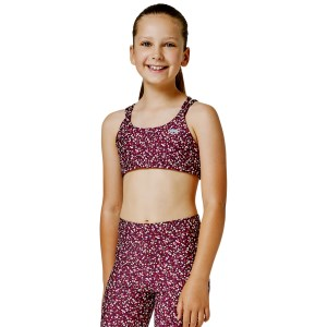 Running Bare Lotus Kids Girls Sports Bra