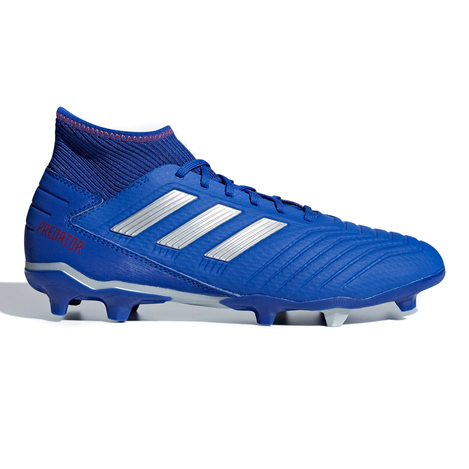 eb8802c7445 Adidas Predator 19.3 Firm Ground - Mens Football Boots - Bold Blue Silver  Active