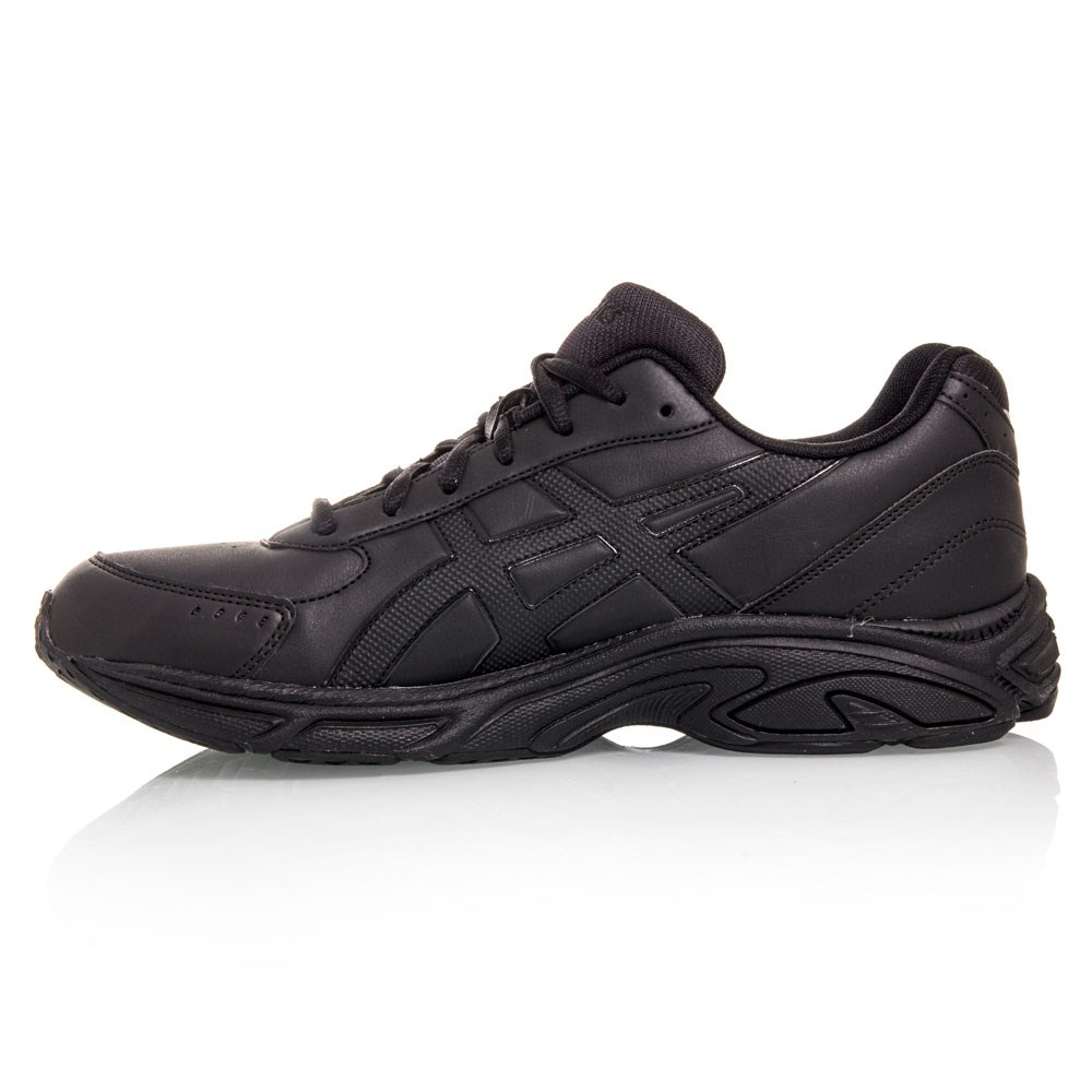asics gel advantage mens walking shoes black