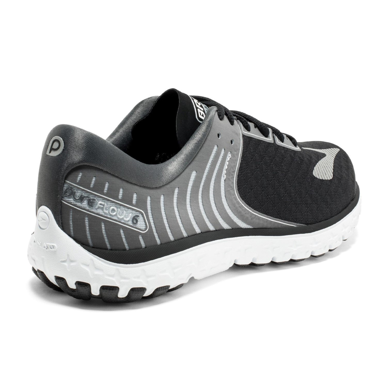 b62e4296408 Brooks PureFlow 6 - Mens Running Shoes - Black Anthracite Silver ...