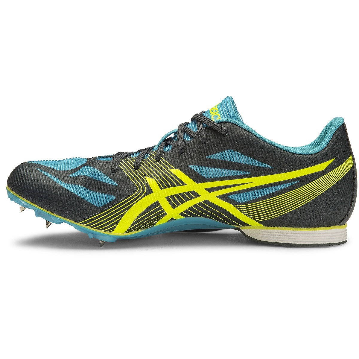 Asics Hyper MD 6 - Mens Middle Distance Track Spikes - Dark Slate/Flash  Yellow
