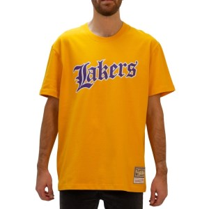 Mitchell & Ness Los Angeles Lakers Old English Faded Mens Basketball T-Shirt