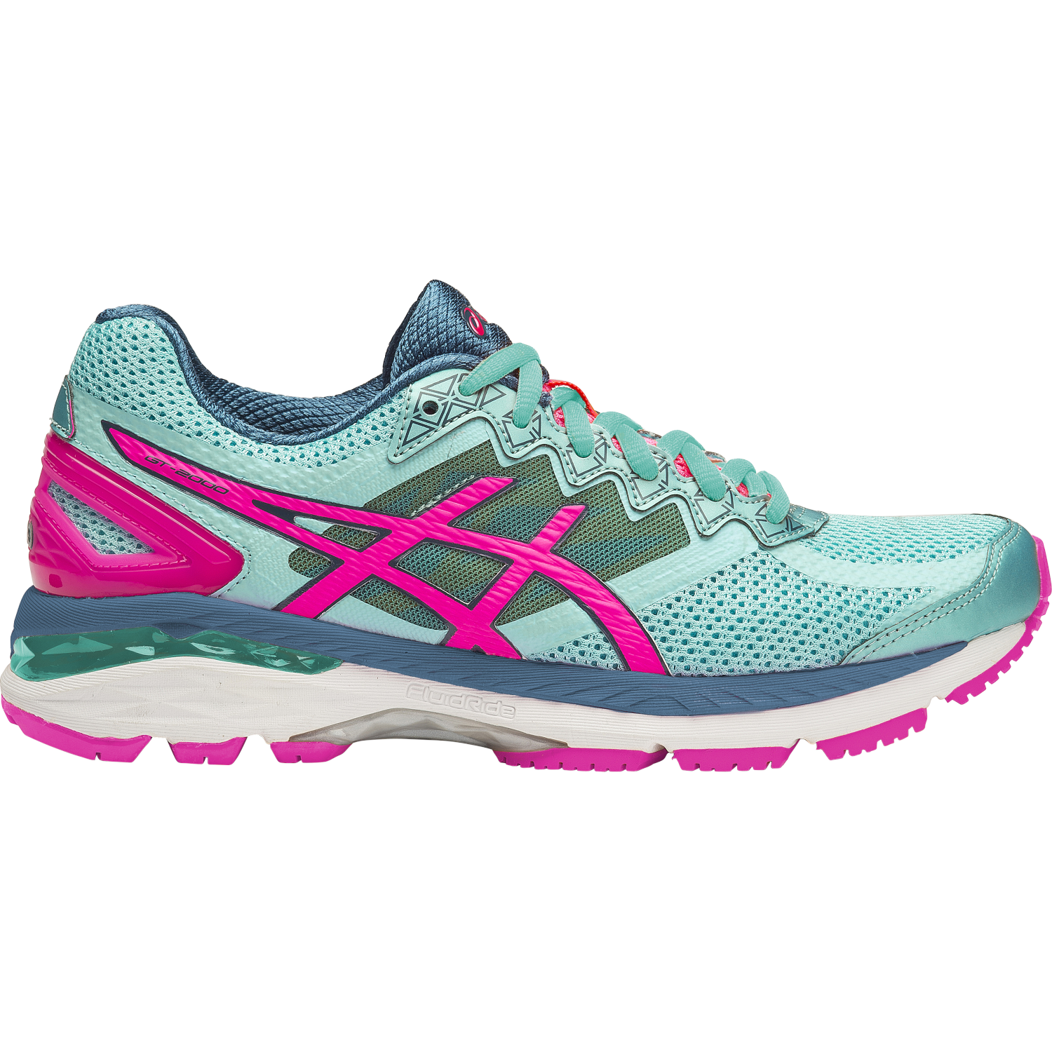 asics gt 2000 4 2a 2e womens running shoes turquoise hot pink navy online sportitude. Black Bedroom Furniture Sets. Home Design Ideas