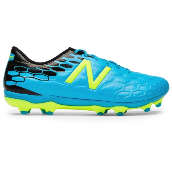 New Balance Visaro 2.0 Mid FG - Mens Football Boots - Maldives Blue/Hi-Lite Yellow/Black