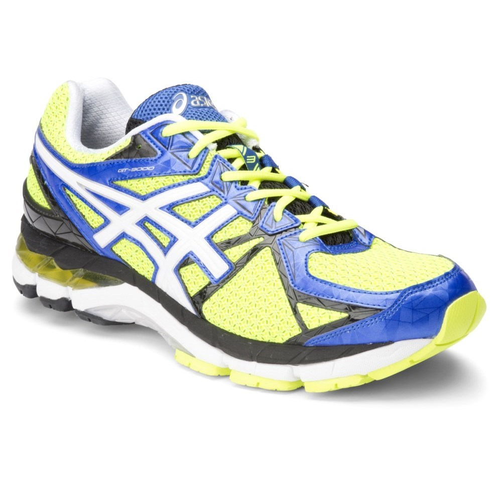 asics gt 3000 3 mens running shoes flash yellow white. Black Bedroom Furniture Sets. Home Design Ideas