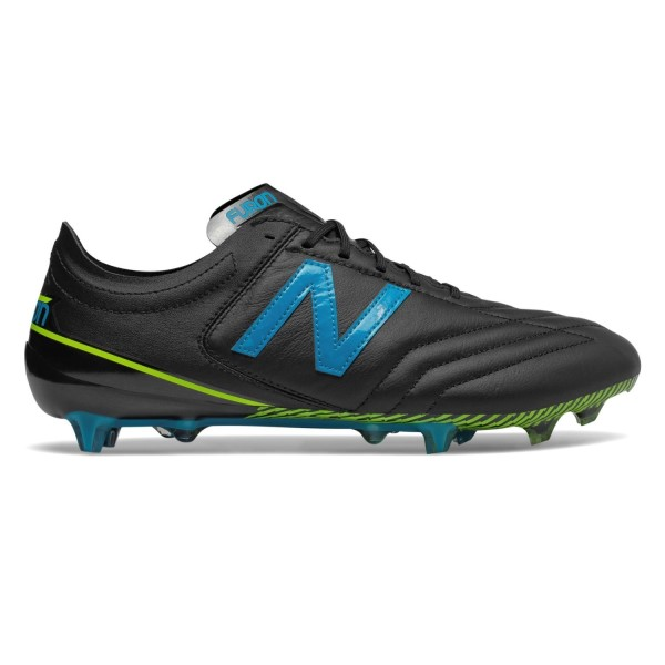 New Balance Furon 3.0 K-Leather FG - Mens Football Boots - Black/Maldives Blue/Hi-Lite Yellow