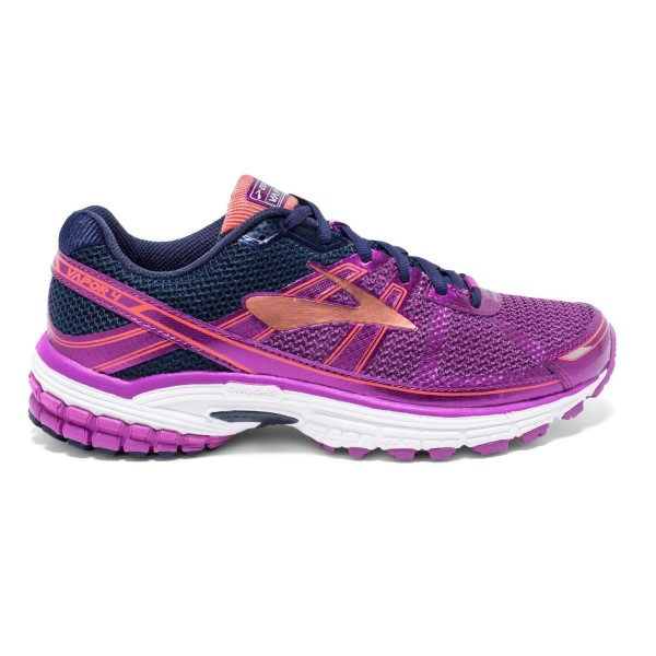 Brooks Vapor 4 - Womens Running Shoes - Violet/Peacoat/Coral