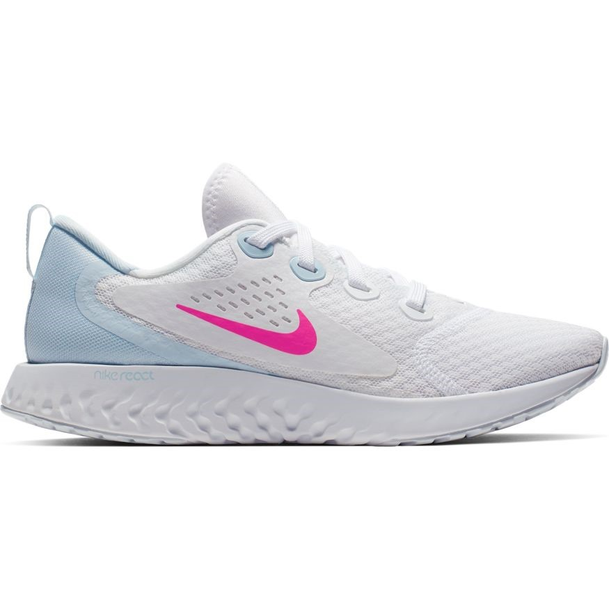 85422f543d2d Nike Legend React - Womens Running Shoes - White Hyper Pink Half Blue