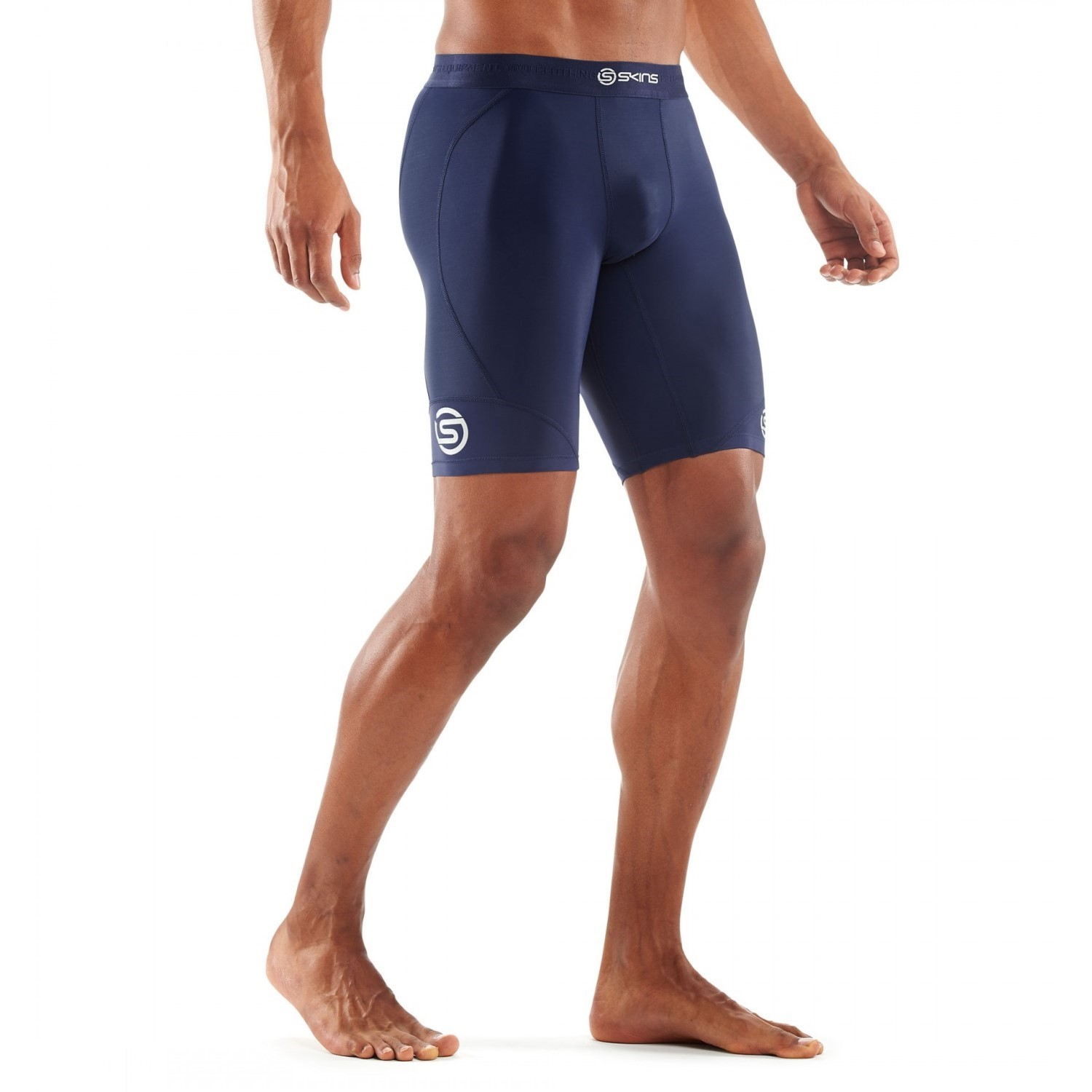 4a82d39d50 Skins DNAmic Mens Compression Half Tights - Navy Blue | Sportitude