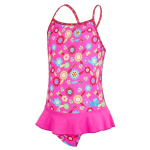 Zoggs Flora X Back Kids Girls Swimdress