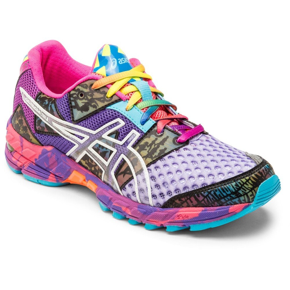 asics gel noosa tri 8 womens purple/multi color