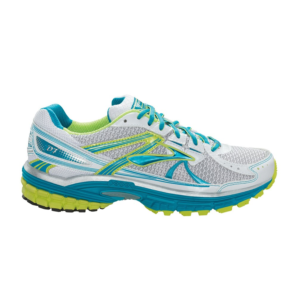 270a81ebb4698 Brooks Defyance 7 - Womens Running Shoes - Green Glow Carribean White