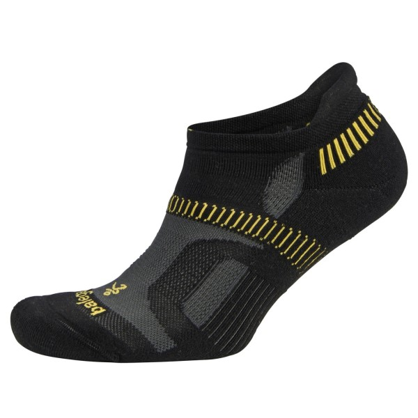 Balega Hidden Contour Running Socks - Black/Yellow