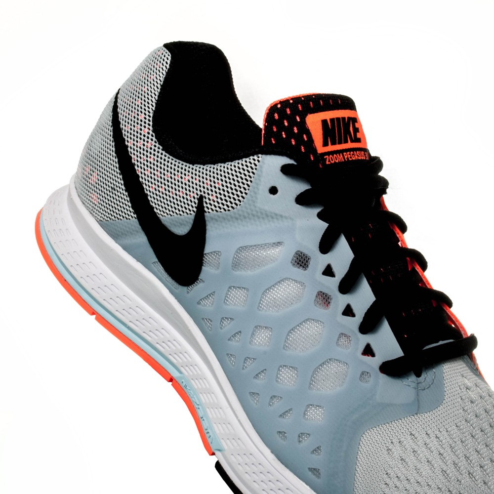the best attitude 4c3e3 ac37b Nike Air Zoom Pegasus 31 - Womens Running Shoes - Wolf GreyBlackOrange ...