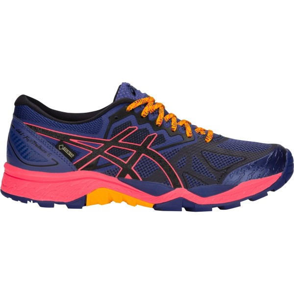 Asics Gel Fuji Trabuco 6 GTX - Womens Trail Running Shoes - Blue Print/Black