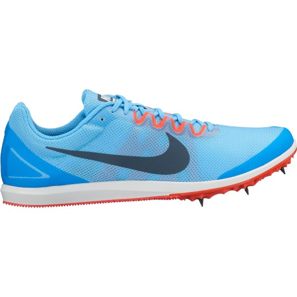 Nike Zoom Rival D 10 - Unisex Track Running Spikes - Football Blue/Blue Fox/Bright Crimson