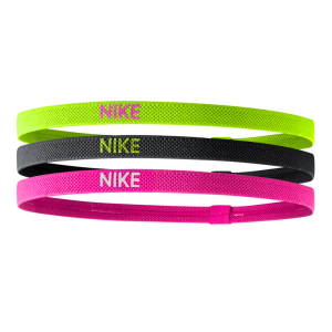 Nike Elastic Sports Headbands - 3 Pack