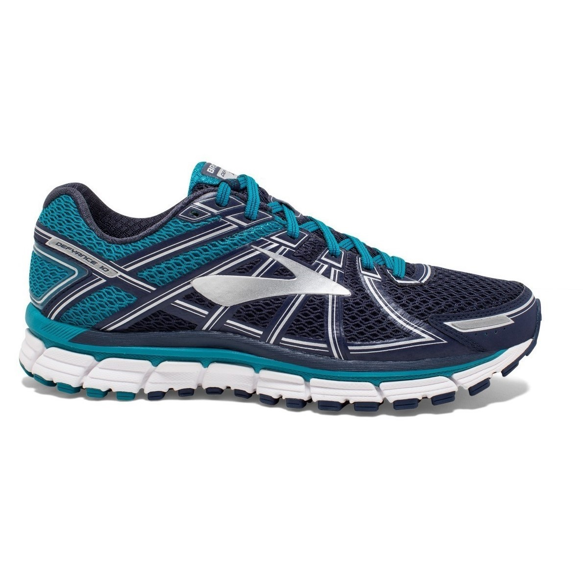 59ac863672e53 Brooks Defyance 10 - Mens Running Shoes - Tahitian Navy White ...