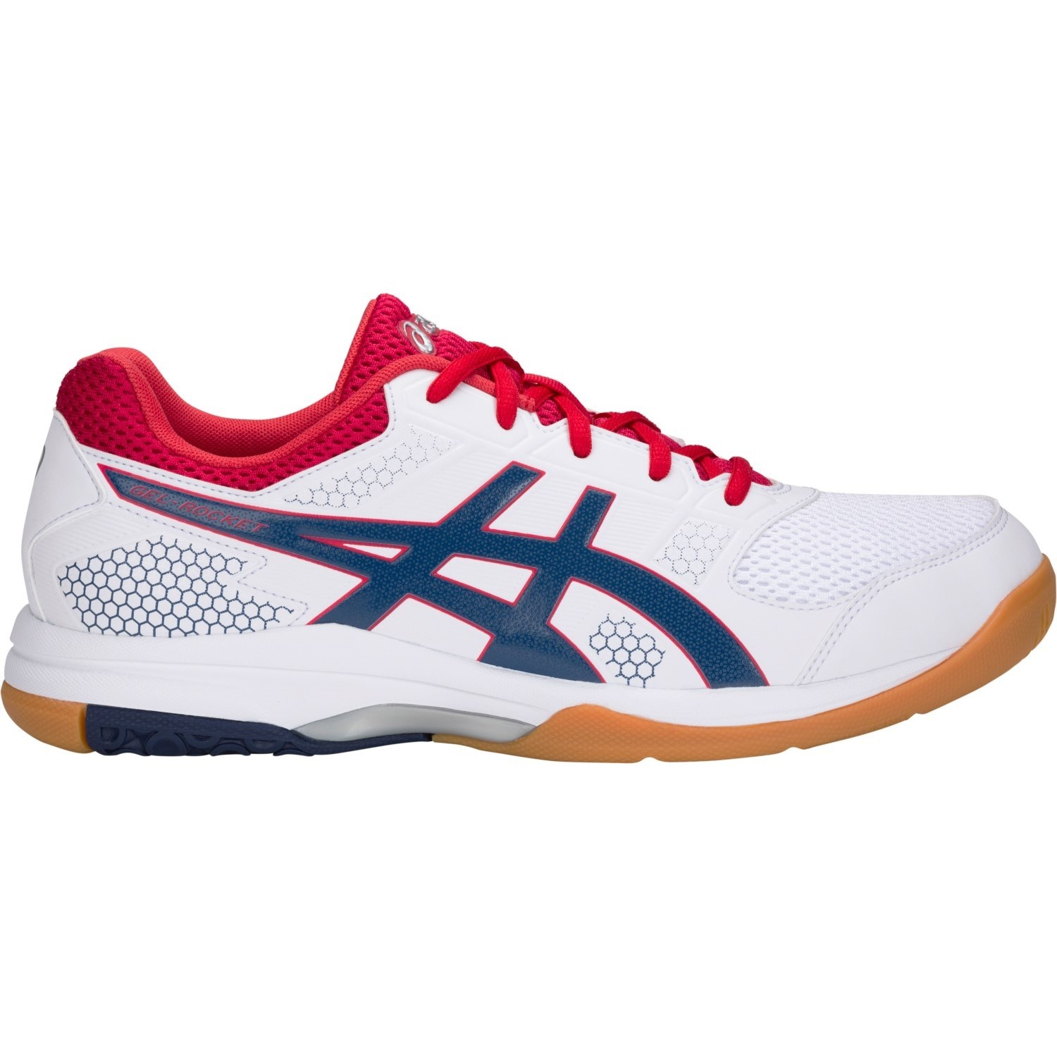 bf8b828c50d4 Asics Gel Rocket 8 - Mens Indoor Court Shoes - White Deep Ocean ...