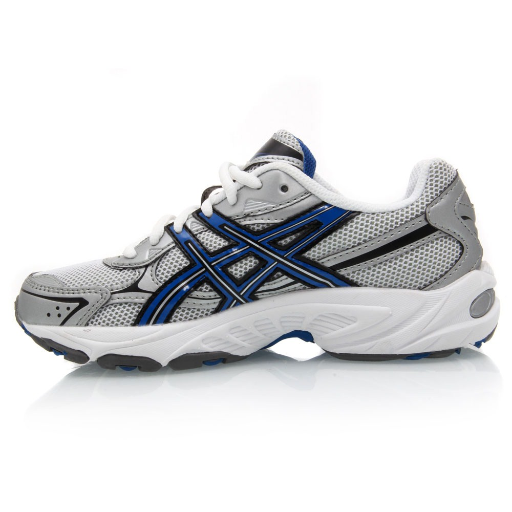 Asics Gel Galaxy 5 GS - Junior Boys Running Shoes - White/Blue/Silver