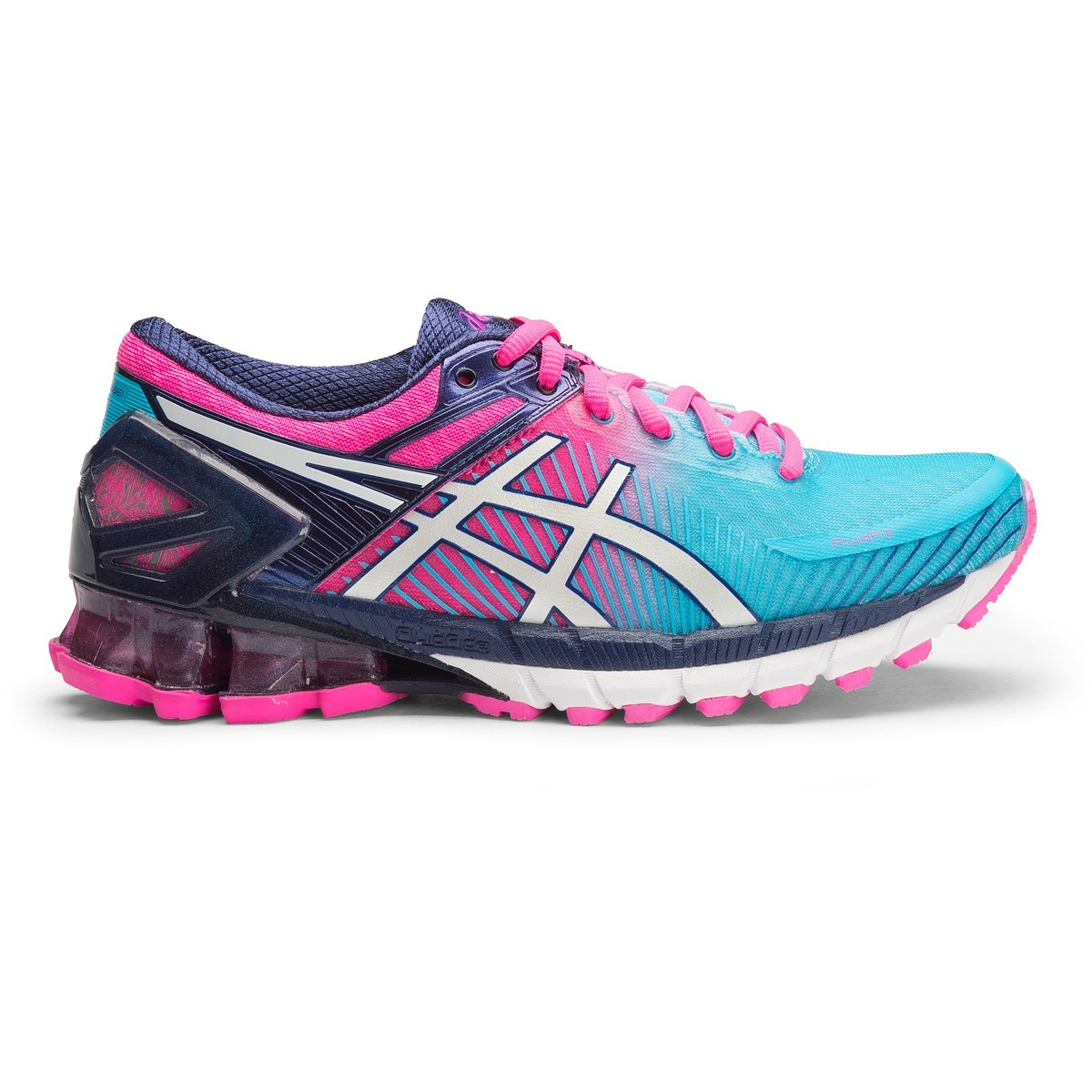 asics kinsei 6 womens running shoes aquarium white hot. Black Bedroom Furniture Sets. Home Design Ideas