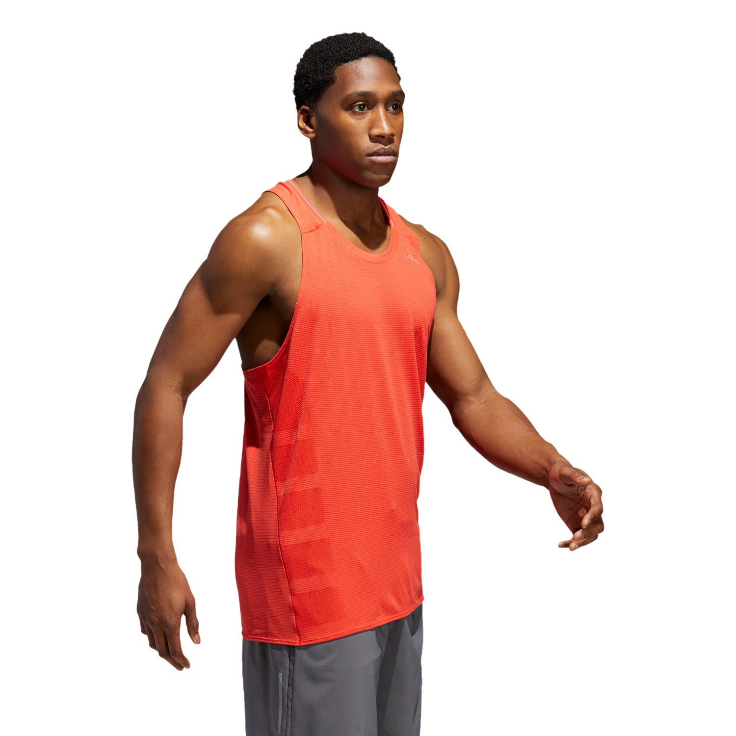 bac62c89a Adidas Supernova Mens Running Singlet - Orange Hi-Res Red