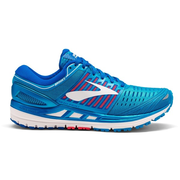 Brooks Transcend 5 - Womens Running Shoes - Blue/Pink/White