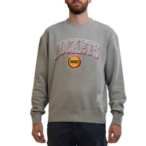 Mitchell & Ness Houston Rockets NBA Vintage Keyline Logo Crew Mens Basketball Sweatshirt