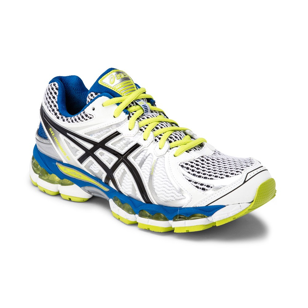 Asics Gel Nimbus 15 - Mens Running Shoes - White Blue Green  d7ac12b99d