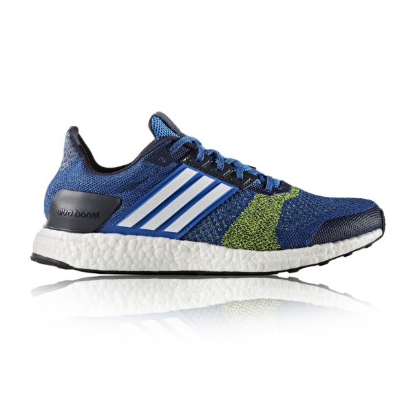 6d85e1d708e7b0 Adidas Ultra Boost ST - Mens Running Shoes - Blue Footwear White Solar  Yellow