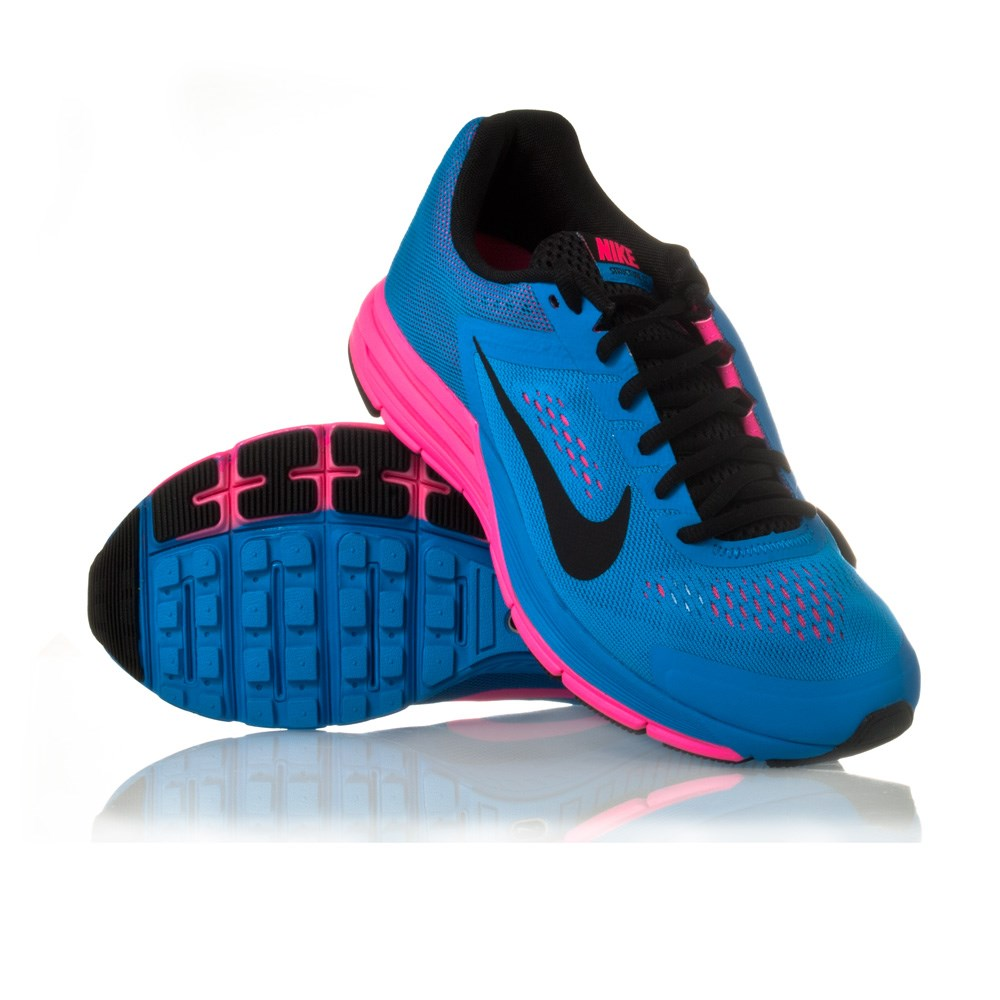 new style 83413 bafa4 Nike Zoom Structure+ 17 - Womens Running Shoes - Photo Blue Black Hyper Pink