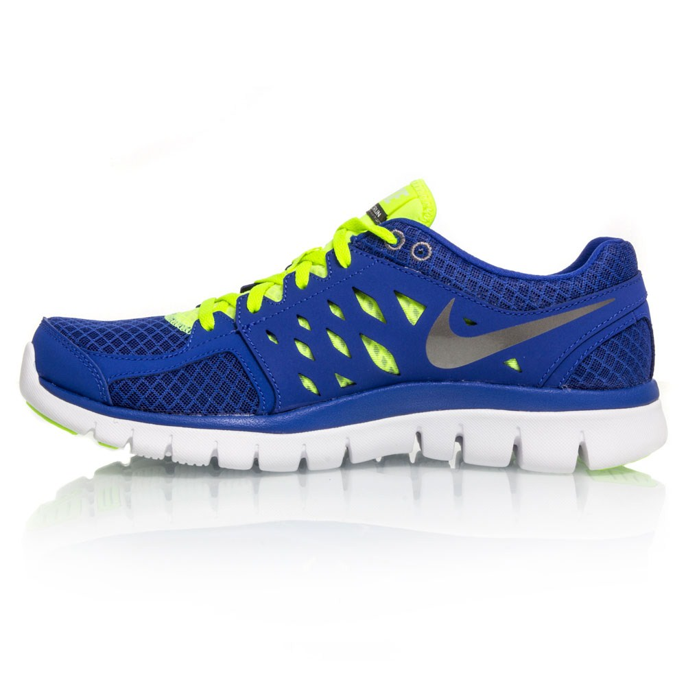 Nike Flex 2013 RN - Mens Running Shoes - Blue/Yellow/White