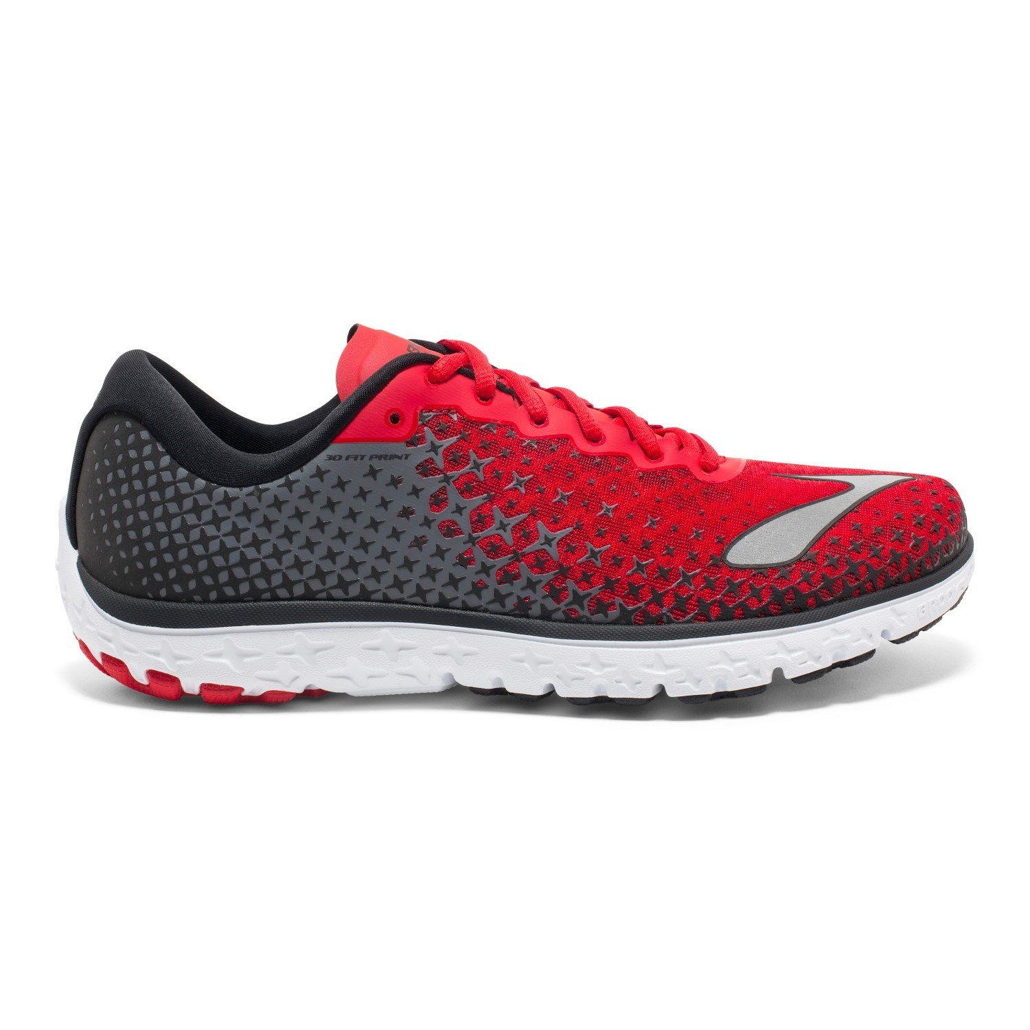 154603276dc71 Brooks PureFlow 5 - Mens Running Shoes - High Risk Red Black Silver ...